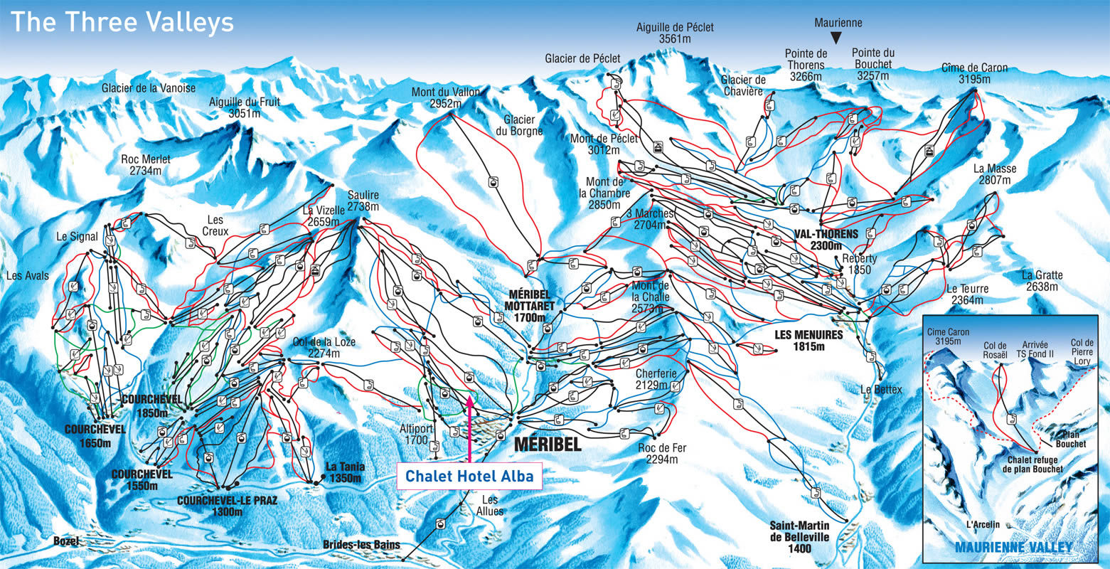 Meribel Piste Map Méribel Piste Map – Interactive map of Méribel Meribel Piste Map