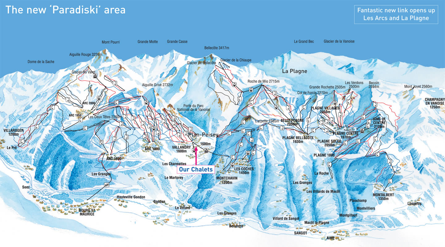 Plan Peisey Piste Map